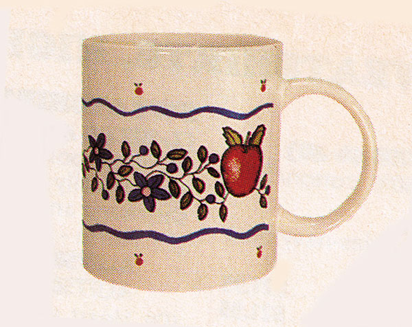 Apple Border Mug