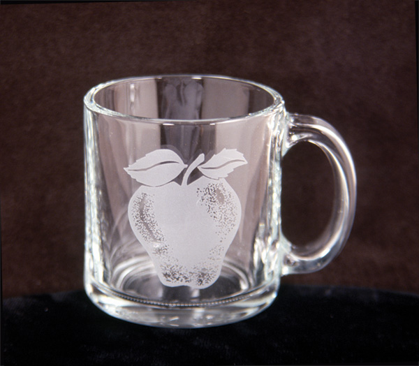 Glass Apple Mug