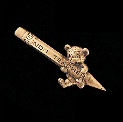 #1 Teacher Pencil with Bear