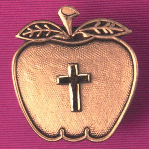 Apple Magnet With Cross