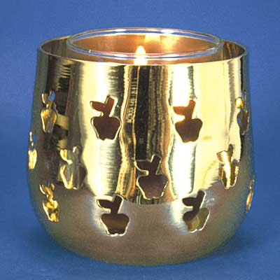 Brass Apple Votive