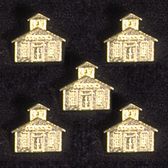 Gold Plated School House Button Covers