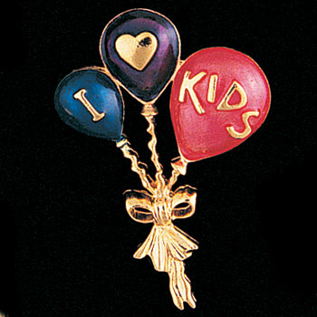 I Love Kids Pin
