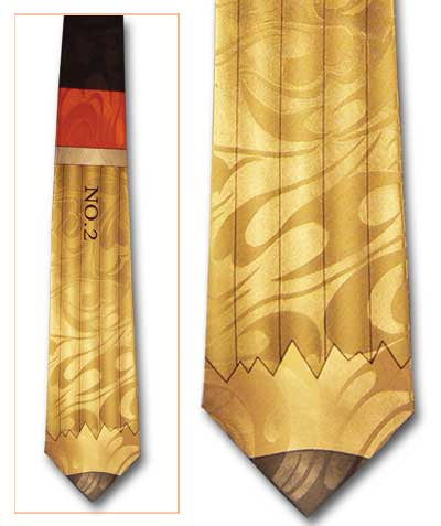 No. 2 Pencil Classic Novel Necktie