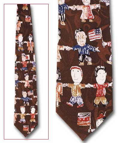 Kids of the World Classic Novel Necktie
