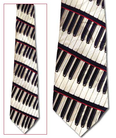 Piano Motif Classic Novel Necktie