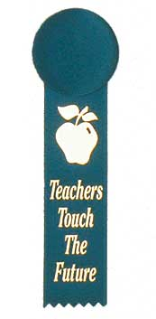 Teachers Touch The Future Button Lapel