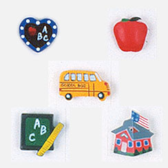 School Days Assortment Button Covers
