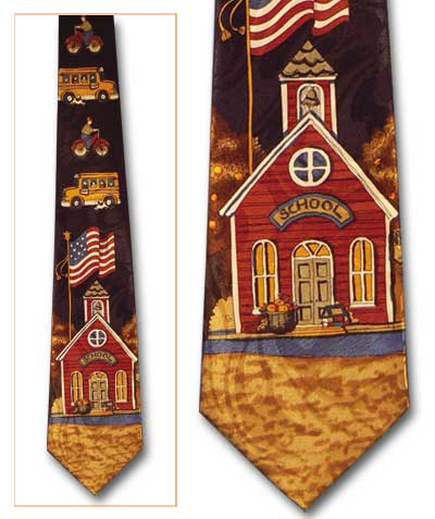 School House Classic Novel Necktie